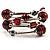 Silver-Tone Beaded Multistrand Flex Bracelet (Red) - view 4