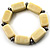 Vintage Antique White Ceramic Nugget Flex Bracelet (Antique Silver Tone) - view 7