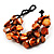 Multistrand Shell-Composite Beaded Bracelet (Black & Orange) - view 3