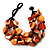Multistrand Shell-Composite Beaded Bracelet (Black & Orange) - view 4