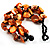 Multistrand Shell-Composite Beaded Bracelet (Black & Orange) - view 5