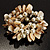 Chunky Antique White Shell And Bead Flex Bracelet - view 2