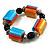 Chunky Multicoloured Resin & Ceramic Bead Flex Bracelet - 19cm Length