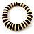 Button Shape Wood Flex Bracelet (Dark & Light Brown)