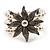 3 Strand Imitation Pearl Floral Flex Bracelet (Silver Tone) - view 9