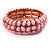 Light Pink Acrylic Flex Bangle Bracelet (Gold Tone)