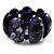 Wide Purple Resin Flex Bracelet