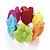 Multicoloured Acrylic Floral Flex Bracelet - up to 17cm Length
