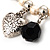 'Cameo, Feather, Heart & Simulated Pearl Beads' Charm Flex Bracelet (Silver Tone) - view 7