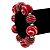 Red & White Wood Bead Flex Bracelet - 19cm Length - view 3