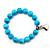 Turquoise Bead Charm Heart Flex Bracelet -21cm Length - view 6