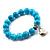 Turquoise Bead Charm Heart Flex Bracelet -21cm Length - view 7
