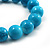 Turquoise Bead Charm Heart Flex Bracelet -21cm Length - view 4