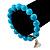 Turquoise Bead Charm Heart Flex Bracelet -21cm Length - view 2
