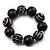 Chunky Black Wood Flex Bracelet - 21cm Length - view 5