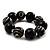 Chunky Black Wood Flex Bracelet - 21cm Length - view 8