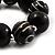 Chunky Black Wood Flex Bracelet - 21cm Length - view 4