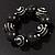 Chunky Black Wood Flex Bracelet - 21cm Length - view 6