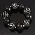 Chunky Black Wood Flex Bracelet - 21cm Length - view 3