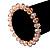 Pale Pink Glass Flex Bracelet - 18cm Length