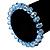 Sky Blue Glass Flex Bracelet - 18cm Length