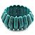 Wide Turquoise Stone Flex Bracelet - 18cm Length