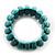 Wide Turquoise Stone Flex Bracelet - 18cm Length - view 5