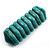 Wide Turquoise Stone Flex Bracelet - 18cm Length - view 6