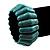 Wide Turquoise Stone Flex Bracelet - 18cm Length - view 3