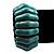 Wide Turquoise Stone Flex Bracelet - 18cm Length - view 7