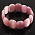 Pink Cats Eye Glass Bead Flex Bracelet -18cm Length