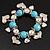 Chunky Flex Metal & Turquoise Bead 'Heart' Charm Bracelet - view 2