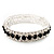 Black & Clear Swarovski Crystal Flex Bracelet (Silver Tone Metal) - 18cm Length - view 2