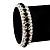 Black & Clear Swarovski Crystal Flex Bracelet (Silver Tone Metal) - 18cm Length - view 8