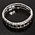 Black & Clear Swarovski Crystal Flex Bracelet (Silver Tone Metal) - 18cm Length - view 9