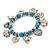 'Heart & Elephant' Turquoise Bead Charm Flex Bracelet (Silver Plated Metal) - view 6