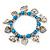 'Heart & Elephant' Turquoise Bead Charm Flex Bracelet (Silver Plated Metal) - view 4