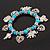 'Heart & Elephant' Turquoise Bead Charm Flex Bracelet (Silver Plated Metal) - view 10
