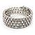 Bridal Clear CZ Wrap Bangle Bracelet - Adjustable - view 3