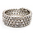 Bridal Clear CZ Wrap Bangle Bracelet - Adjustable - view 6