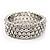 Bridal Clear CZ Wrap Bangle Bracelet - Adjustable - view 8
