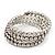 Bridal Clear CZ Wrap Bangle Bracelet - Adjustable - view 9