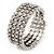 Bridal Clear CZ Wrap Bangle Bracelet - Adjustable - view 5