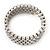 Bridal Clear CZ Wrap Bangle Bracelet - Adjustable - view 10