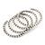 Bridal Clear CZ Wrap Bangle Bracelet - Adjustable - view 4