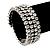 Bridal Clear CZ Wrap Bangle Bracelet - Adjustable - view 2