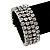 Bridal Clear CZ Wrap Bangle Bracelet - Adjustable - view 11