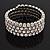 Bridal Clear CZ Wrap Bangle Bracelet - Adjustable
