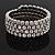 Bridal Clear CZ Wrap Bangle Bracelet - Adjustable - view 12