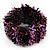 Wide Glass Bead Flex Bracelet (Black, Pink, Brown & Peacock) - up to 18cm Length